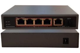 Switch PoE Gigabit industrial de 4 porturi